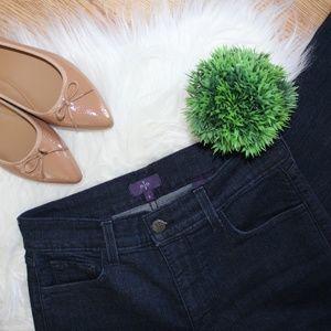 NYDJ Dark Wash High Waist Straight Jeans 6 NWOT